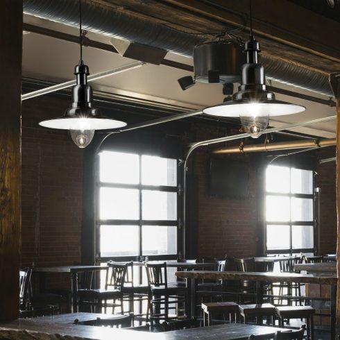 Lampa suspendata Ideal Lux - Fiordi SP1 Negru Mare Interior