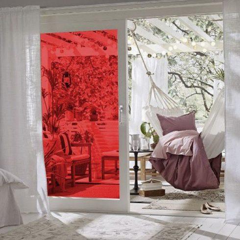 Folie geamuri rosie transparenta - Ambient 1