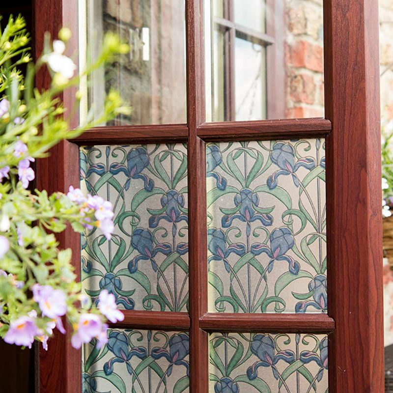 Folie geamuri vitralii Flori de Iris - Ambient 1