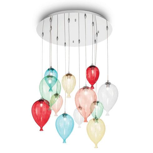 Lampa suspendata baloane Clown S12 Multicolor