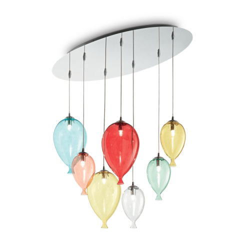 Lampa suspendata baloane Clown SP7 Multicolor
