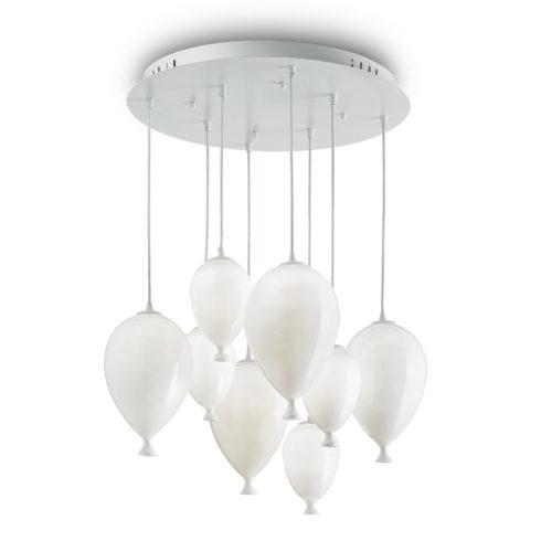 Lampa suspendata baloane Clown SP8 Alb