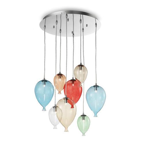 Lampa suspendata baloane Clown SP8 Multicolor