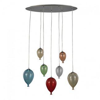 Lampa suspendata baloane - Clown SP7 Multicolor