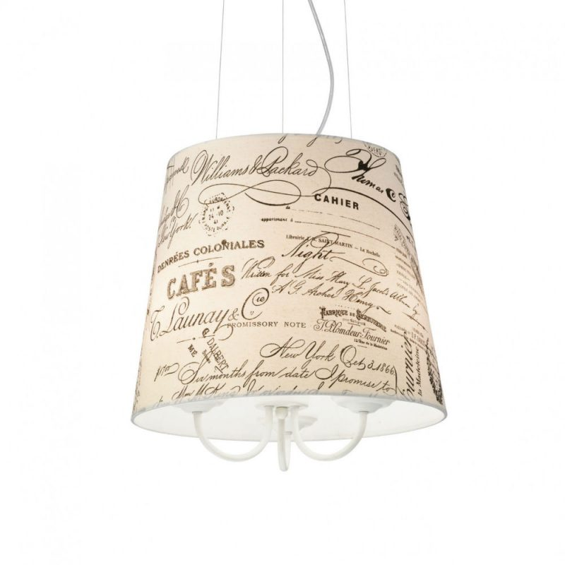 Lampa vintage cu abajur textil Coffee SP3