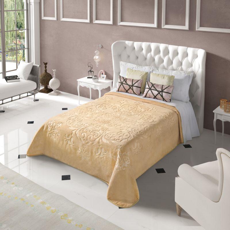 Cuvertura Dormitor Embosata Bej Regal