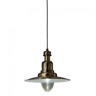 Lampa stil industrial Ideal Lux - Fiordi SP1 Bronz