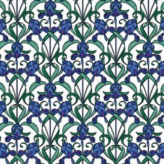 Folie geamuri Vitralii Flori de Iris