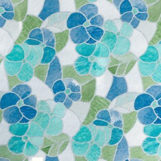 Folie geamuri Vitralii Flori albastre