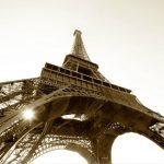 Fototapet Paris - Tour Eiffel Sepia Catalog