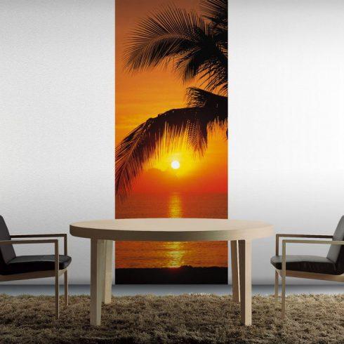 Fototapet pentru usa – Apus pe plaja