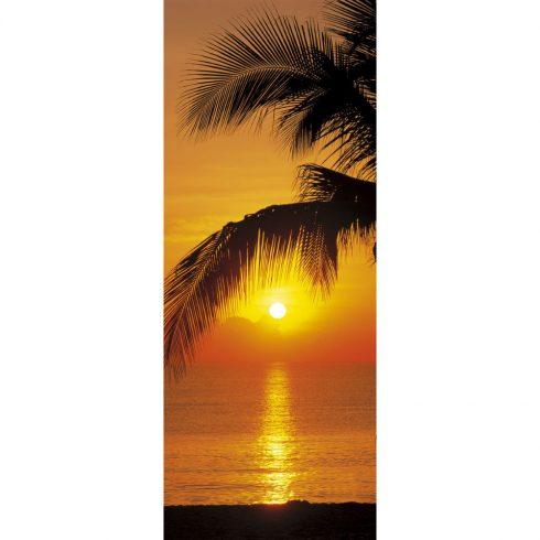 Fototapet pentru usa - Rasarit pe plaja
