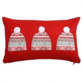 Perna decorativa lana - Caciulite de Iarna Rosie - Produs