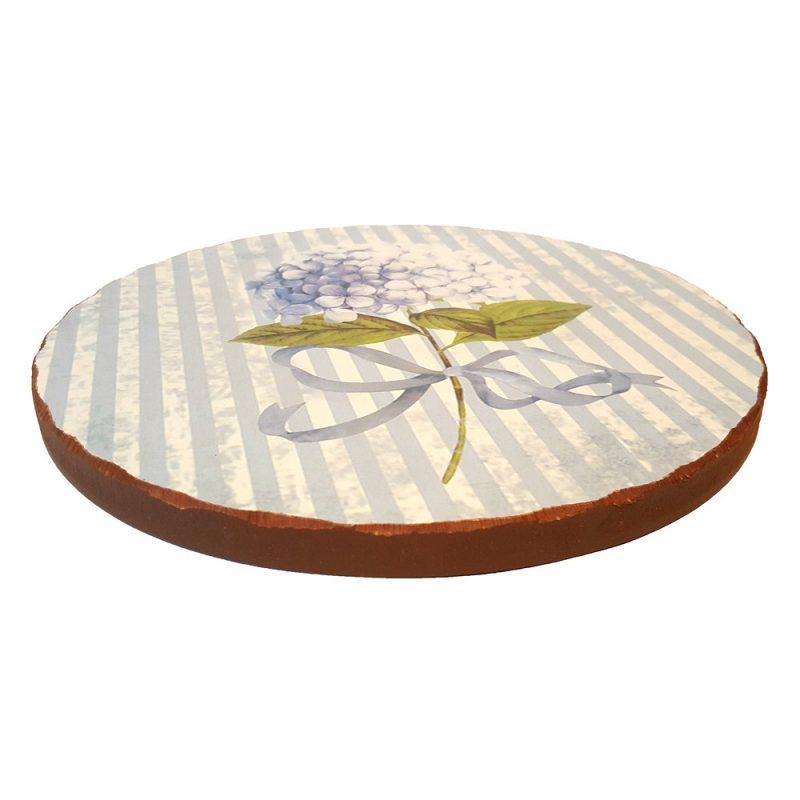 Suport vase din lemn - Hortensie Bleu - Side