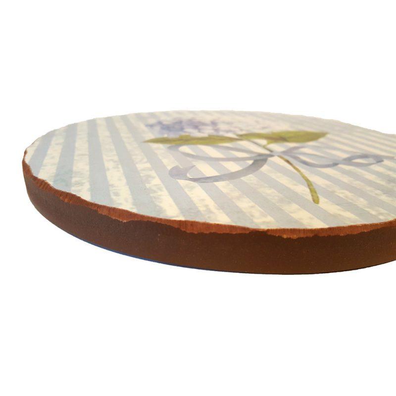 Suport vase din lemn - Hortensie Bleu - Detaliu