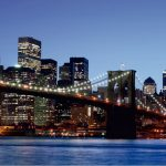 Fototapet Orase - Podul Brooklyn Noaptea Catalog