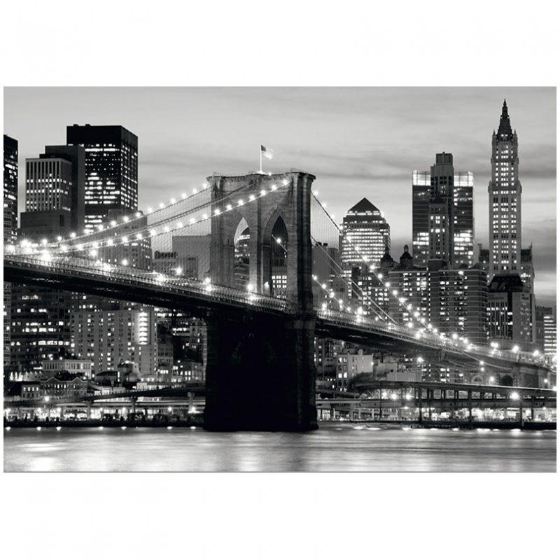 Fototapet alb negru Podul Brooklyn