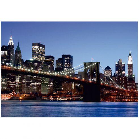 Fototapet orase podul Brooklyn noaptea