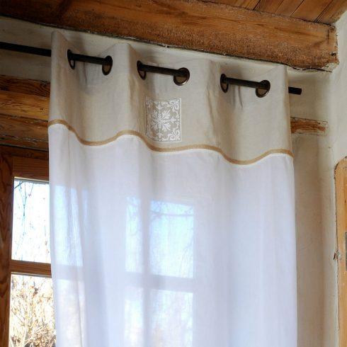 Perdea rustica alba - Chambord catalog