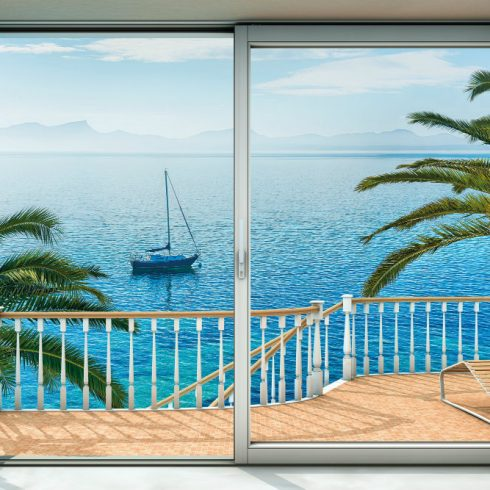 Fototapet Peisaje - Fereastra catre plaja Majorca