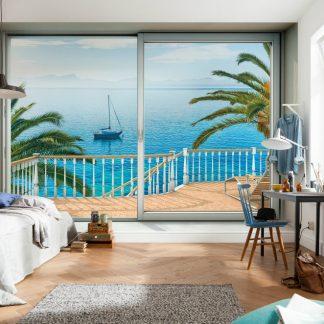 Fototapet Fereastra catre plaja Majorca