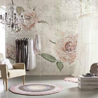 Fototapet Trandafiri - Vintage Rose Vlies Interior