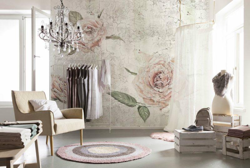 Fototapet Trandafiri Vintage Rose Vlies Interior