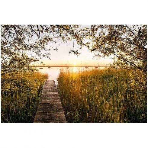 Fototapet natura - Apus pe lac