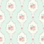 Tapet Shabby Chic Alice - Tiffany Bleu