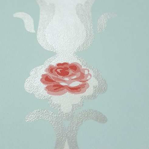 Tapet Shabby Chic Alice - Tiffany Bleu Detaliu