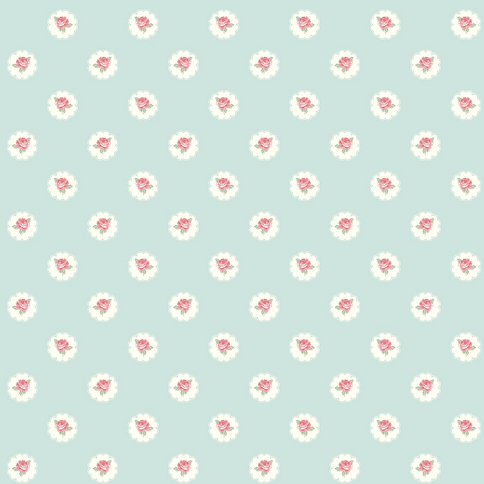 Shabby Chic Wallpaper Alice Tiffany Blue Red Roses