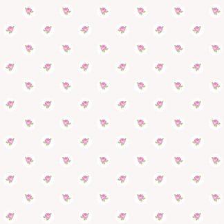 Tapet Shabby Chic Alice Ivoire - Trandafiri Roz LL-00208