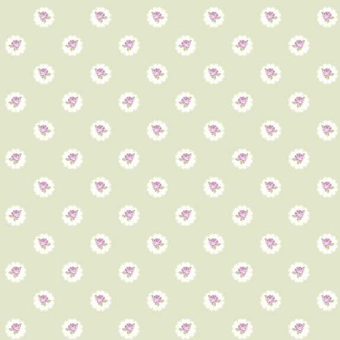 Tapet Shabby Chic Alice Vernil - Trandafiri Lila LL-00213