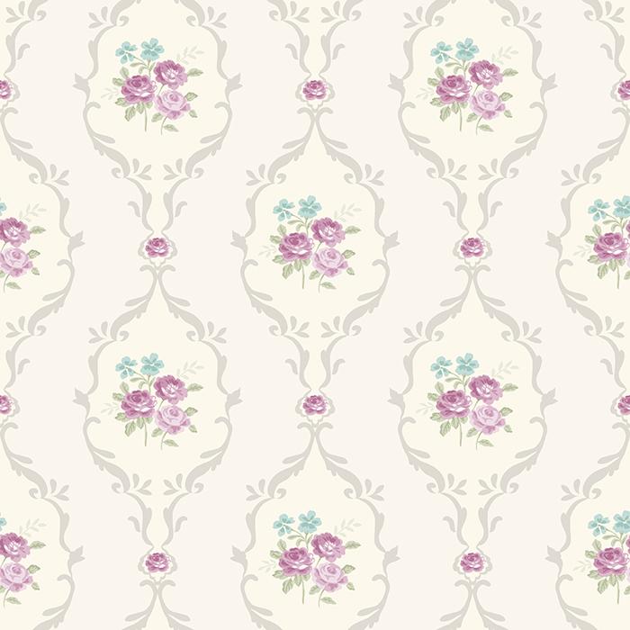 Shabby Chic Wallpaper Alice Dove Purple