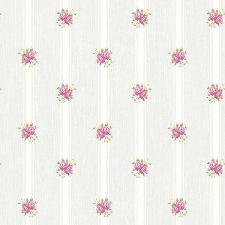 Tapet Shabby Chic Alice Bleu Pudrat - Dungi LL-00221