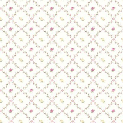 Tapet Shabby Chic Alice Bleu Pudrat - Ghirlande LL-00222