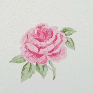 Tapet Shabby Chic Alice detaliu trandafir roz