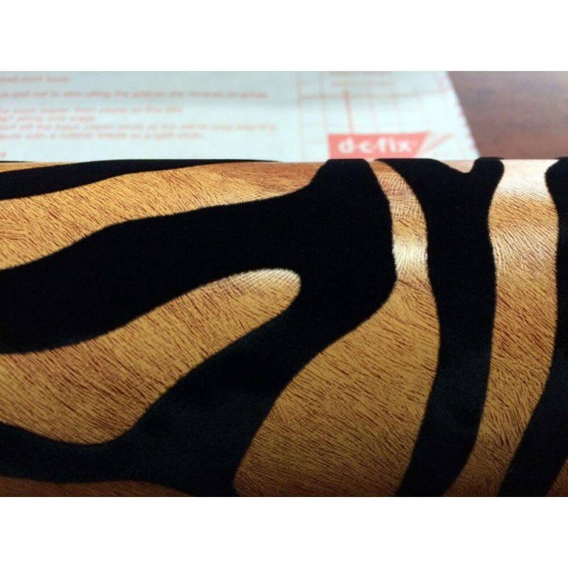 Autocolant catifea tigru Sumatra detaliu
