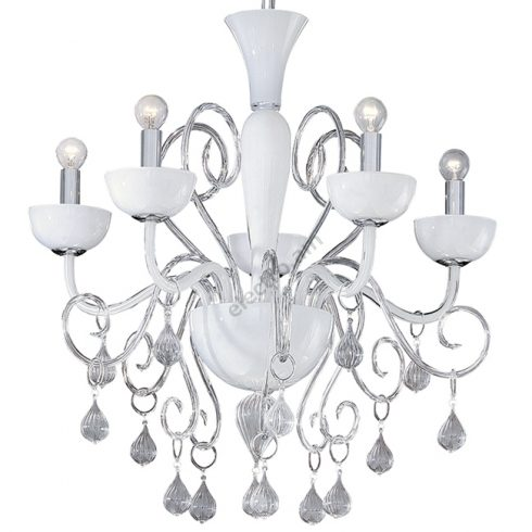 Candelabru Alb Lilly SP5 Catalog