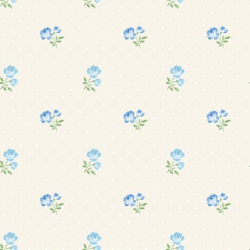 Tapet trandafiri albastri Matilda