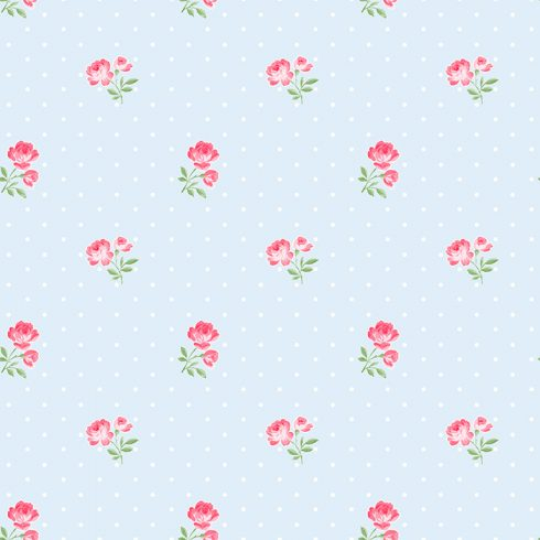 Tapet trandafiri Matilda bleu