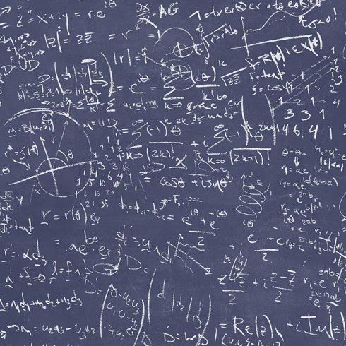 Tapet albastru Tabla Formule Matematice