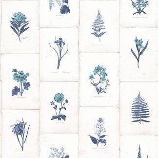 Tapet Oxford II Botanica Albastru