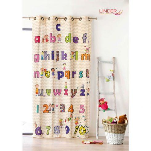 Draperie copii cu litere si cifre colorate - Catalog