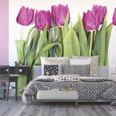Fototapet lalele violet - Splendoare - Ambient 3