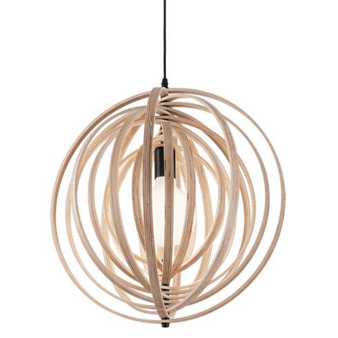 Lampa tavan lemn natur Disco SP1