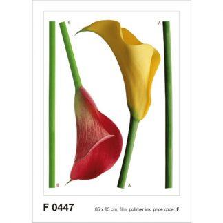 Sticker Flori - Cale Rosu si Galben
