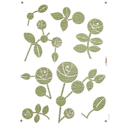 Sticker Flori Trandafiri Stilizati