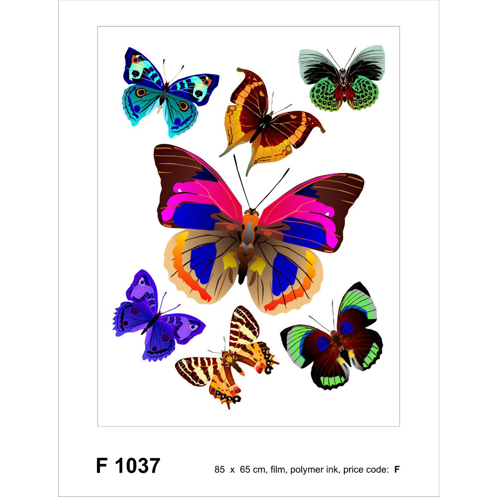 Colored Butterfly Sticker