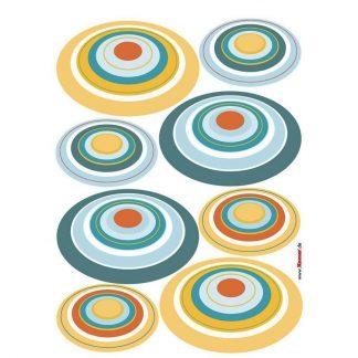 Sticker perete - Cercuri Retro Catalog